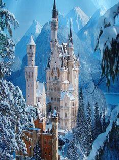 Германия,Мюнхен Neuschwanstein-Castle-1
